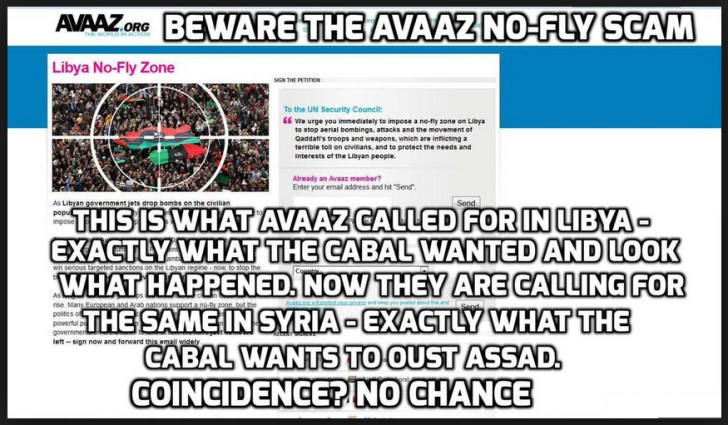 AVAAZ scam David Icke