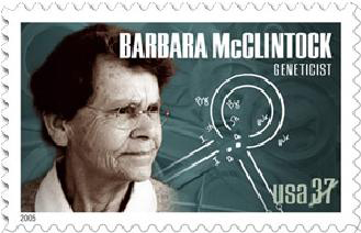 Nobelprijswinnaar Barbara McClintock werd in de VS geprezen om haar Nobelprijs.