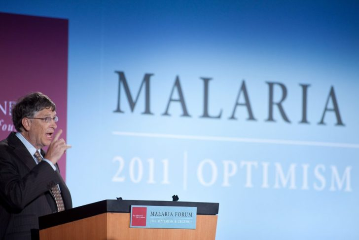 Bill Gates gives a keynote speech at the 2011 Malaria Forum. The Bill and Melinda Gates Foundation's 2011 Malaria Forum was held Oct. 17-19th at the Grand Hyatt in Seattle, WA. Receptions were held at the Foundation's campus and the Seattle Aquarium.