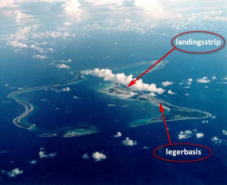 Over de Amerikaans-Engelse militaire basis, het atol Diego Garçia gingen vanaf het begin van de verdwijning van de MH-370 al geruchten, dat het vliegtuig dáár zou geland zijn..
