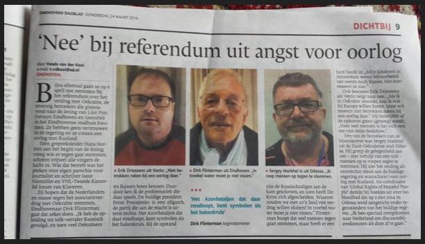 Eindhovens Dagblad NEE Oekraine