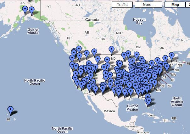 De map met FEMA-kampen, waarover uiterst geheimzinnig gedaan wordt! (klik op illustratie voor meer info)