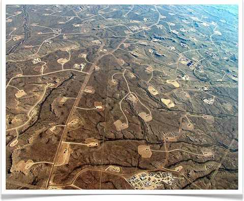 Fracking landschap
