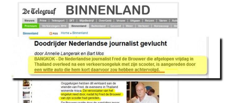 Fred de Brouwer artikel Telegraaf