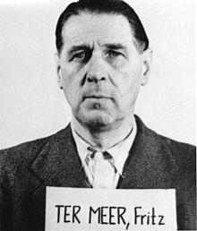 Fritz ter Meer voor de aanvang van de Neurenberg-processen