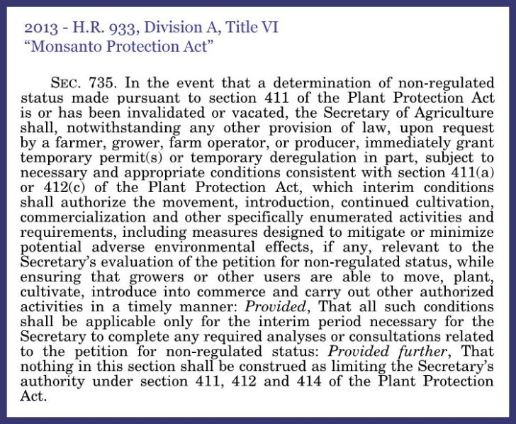 HR933 monsanto protection act