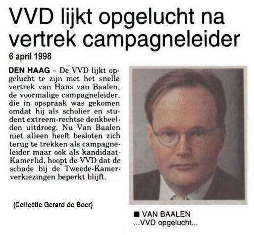 Hans van Baalen ultra-rechts