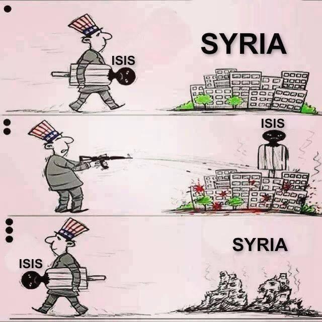 Het is volledig begrijpelijk dat de VS, als hoofdsponsor van IS, niet zo in haar sas is met de komst van Rusland naar Syrië..! Hoe ver zijn we van de publiekelijke ontmaskering van IS als Zionistische camouflage..??