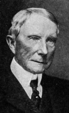 John D. Rockefeller, oliemagnaat en alleenheerser.. Onderdrukker van homeopathie als natuurlijke geneesWIJZE..
