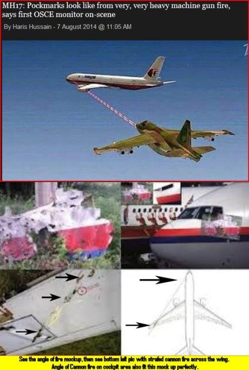 MH17 jet fighter approach