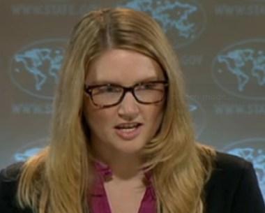 Marie Harf, persvoorlichter van de regering Obama, verwijst journalisten naar YouTube en Facebook voor bewjizen rondom de MH17-aanslag..!