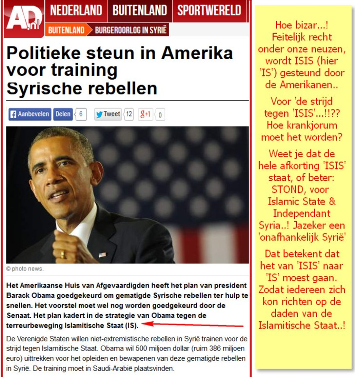 Obama IS steun Syrie
