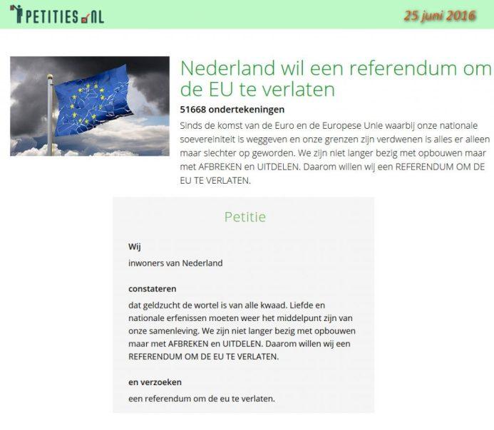 Petitie EU verlaten