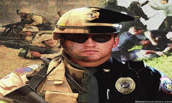 De vergelijking met de Gestapo, de geheime nazi-politie, is niet eens zo heel gek, wanneer je kijkt naar de zeer gewelddadige optredens van politie-eenheden in de VS. Politie die steeds meer op militairen gaan lijken (klik voor artikel)