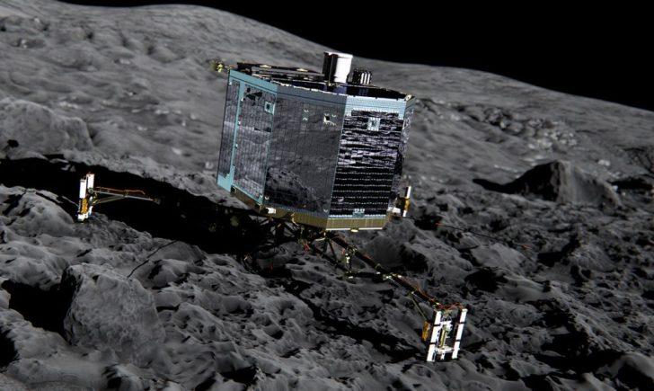Zo zal binnenkort de speciale landingsmodule op de 'komeet' staan voor 'nader militair onderzoek'..!
