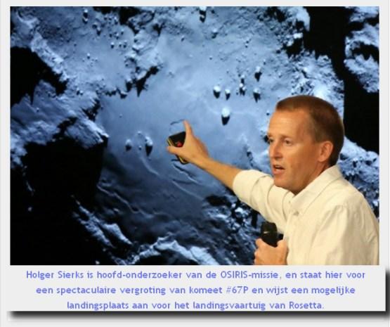 Rosetta shuttle landingplaats