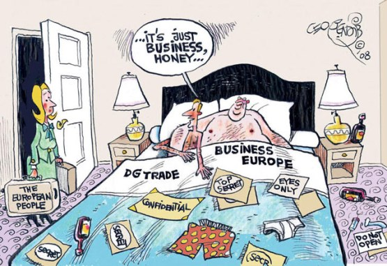 TTIP cartoon bed business