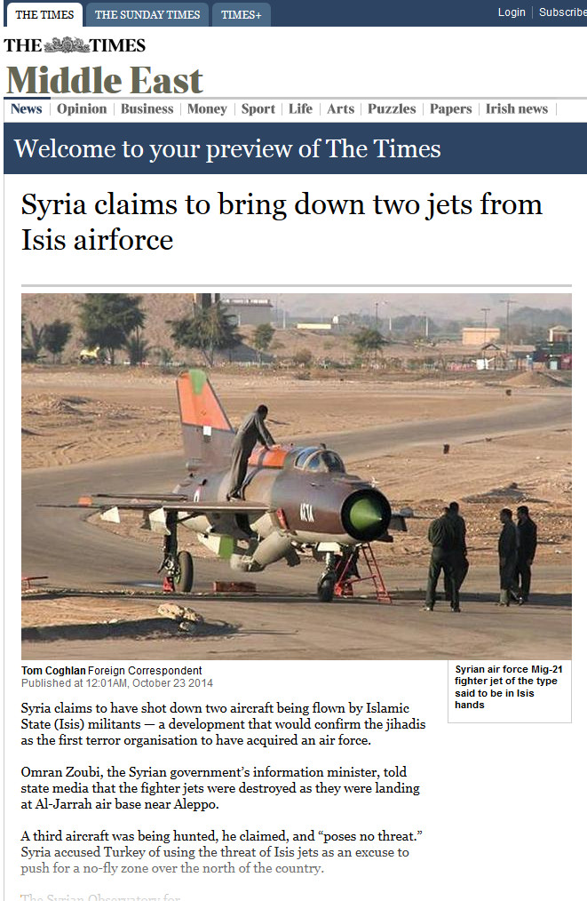 The Times ISIS airforce