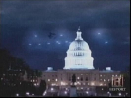 Augustus 1952, UFO-vloot boven het Capitool in Washington (VS)