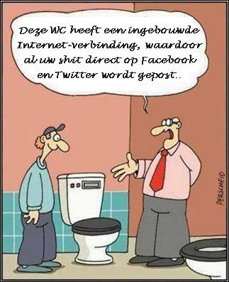WC shit op FB en Twitter