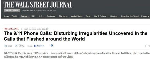 WSJ irregularities phone calls 9-11