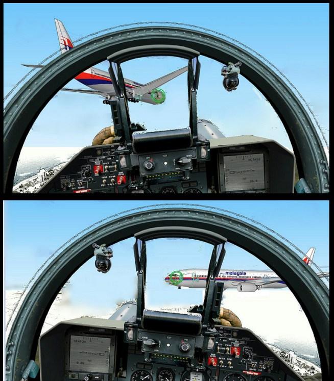 aanval MH17 vanuit SU cockpit