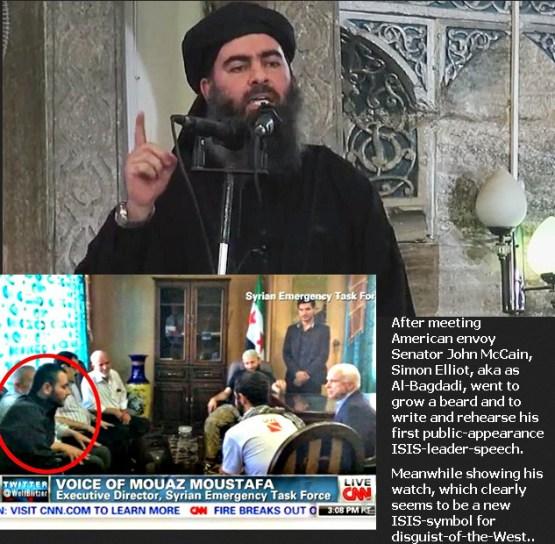 De uiterst dubieuze rol van de VS in beeld. Het is met namen 'verkenner' van het Congres, John McCain, die telkens opduikt, vóórdat de  VS direct of indirect, betrokken raakt bij een wereldwijde escaltie van terrorisme. Zoals inmiddels met ISIS / IS het geval is.