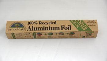 Deze rol alluminiumfolie bespaart 95% productie-electriciteit, t.o.v. een rol nieuw folie.