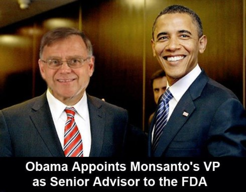 benoeming Monsanto VP als FDA adviseur