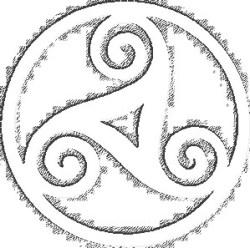 Hét symbool van Bretagne is deze Triskell..