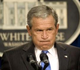 Bush, bijna militaire dictator..