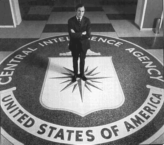 De grote mastermind zat op zijn troon, eindelijk. George Bush sr. werd directeur van 's werelds meest geheime macht-achter-de-schermen: de CIA. Hij werd machtiger dan de president, die wél verantwoording moet afleggen aan zijn volk. De CIA doet zg. alles in het belang van het land, maar vooral 'geheim'. George Bush zou later een stapje hoger stijgen, zijn CIA-macht niet meer verliezend..! Drugs waren en zijn de financiële levensader van de CIA..!