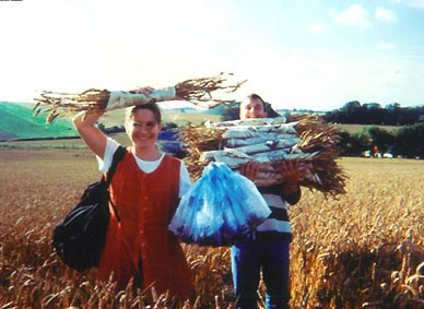 collecting samples BLT crop circle material