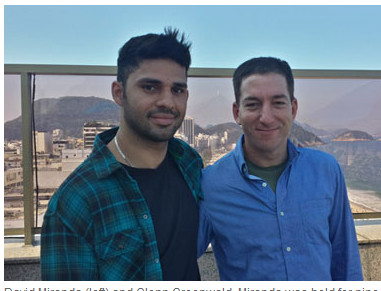 The Guardian-journalist Glenn Greenwald (r) hier met zijn partner David Miranda.