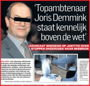 Het Algemeen Dagblad leek vooralsnog de enige krant die haar plicht doet, om het verhaal van Joris  Demmink te belichten.