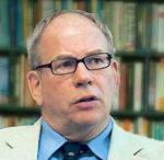 Schrijver William Engdahl van het onthullende boek 'Seeds of destruction'.