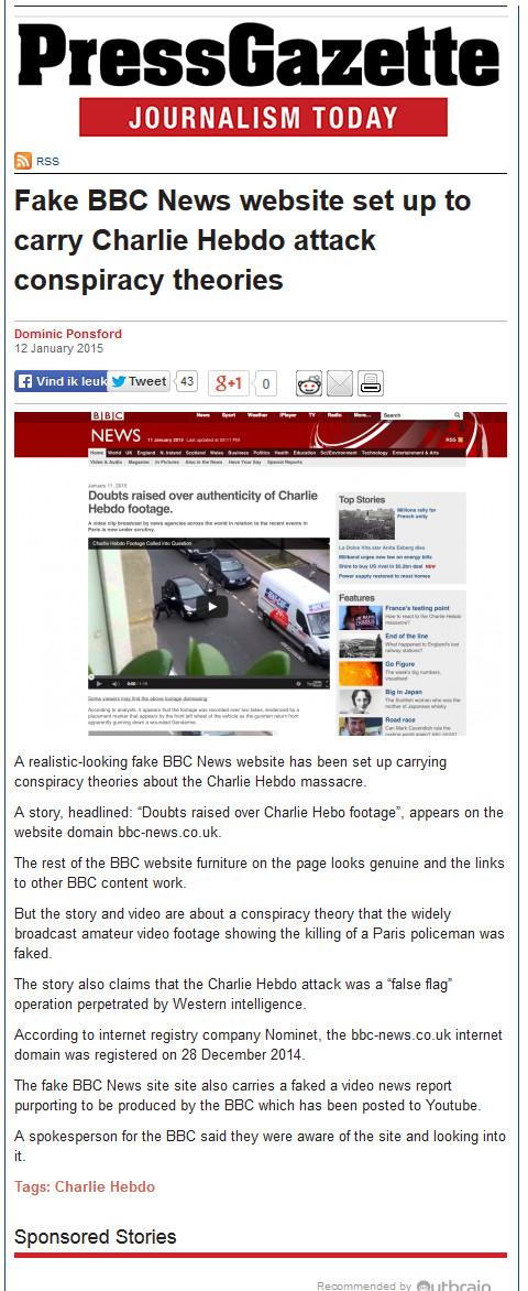 fake BBC site