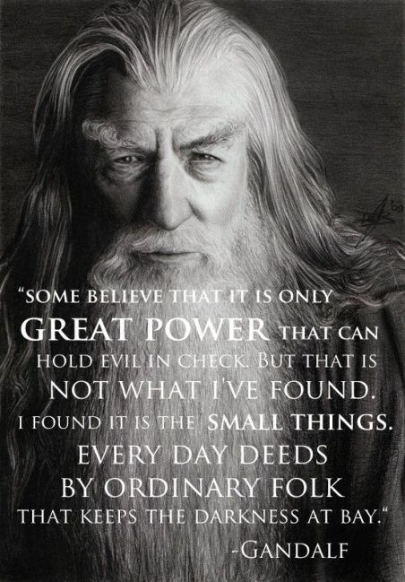 gandalf great power everyday things