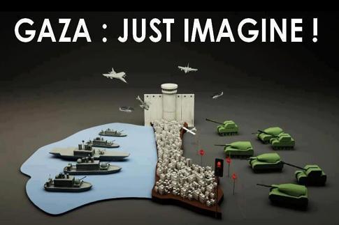 De 'vredespolitiek' van Netanyahu in beeld. Gaza, het concentratiekamp aan de Middelandse Zee..