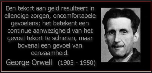 george orwell geldtekort
