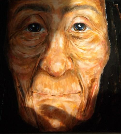 Ishna Te, de grootmoeder van de Star Nations, uit het boek van Judith Moore: 'Visions of Wisdom'. (klik op illustratie voor lead hier op de site)