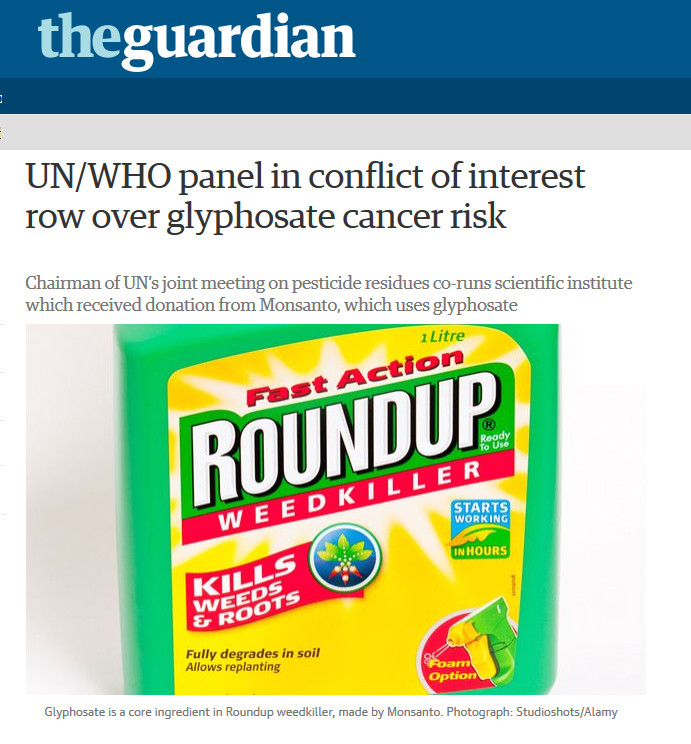 guardian row on conflict of interest monsanto