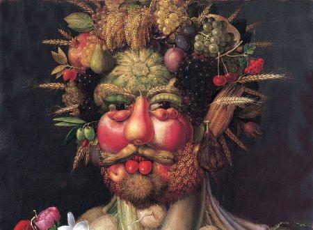 De Italiaanse kunstenaar Archimboldo schilderde een smakelijk hoofd...