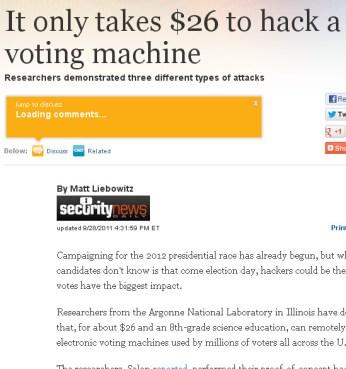 hack a voting machine