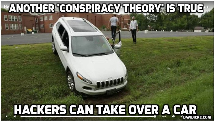hackers take over car David Icke