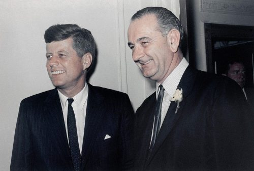 JFK en 'zijn' vice-president Lyndon B. Johnson
