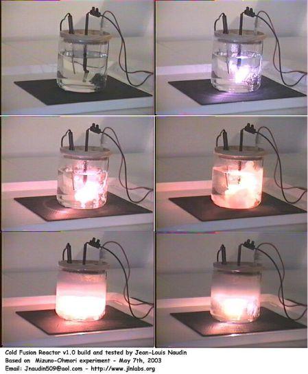 Bewijzen voor koude fusie, zoals bijv. hier op de foto, zijn overal op het internet te vinden.