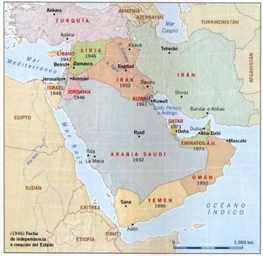 map saudi arabia israel