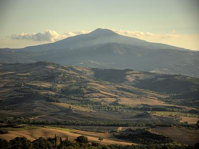 Monte Amiata in Toscane, heilige plek voor de Etrusken.