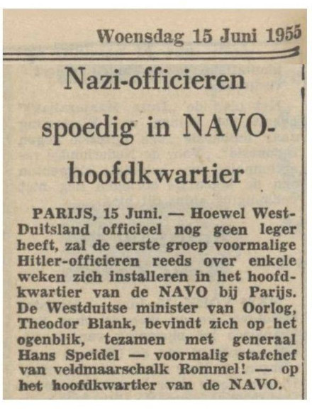 nazi officieren NAVO